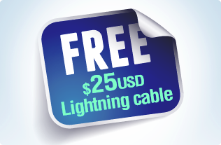 Free Lightning to USB cable