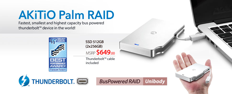 AKiTiO Palm RAID Prices