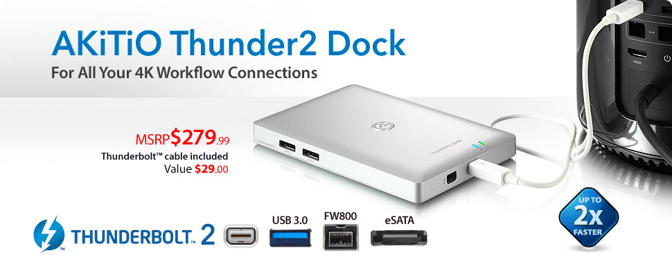 AKiTiO Thunder2 Dock