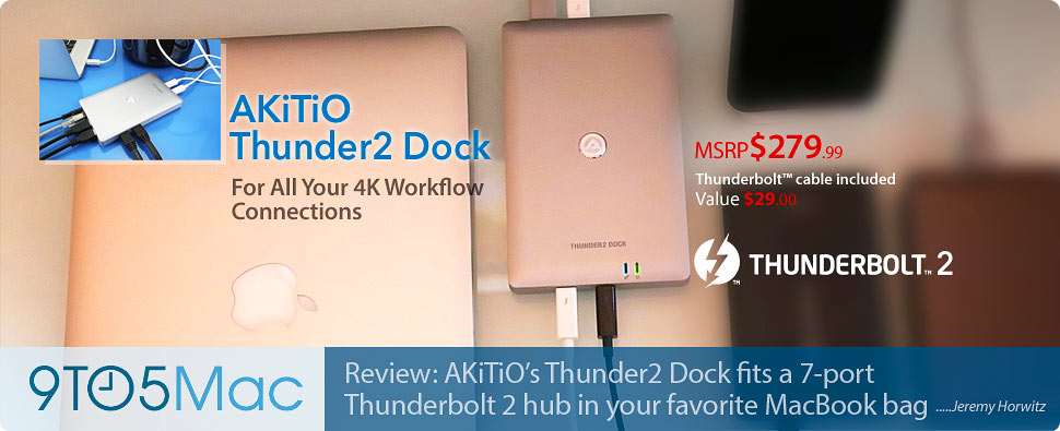Thunderbolt2 Dock Comparison