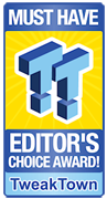 TweakTown editor's choice award