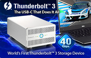World's First Thunderbolt 3 Storage Device - Thunder3 Duo Pro