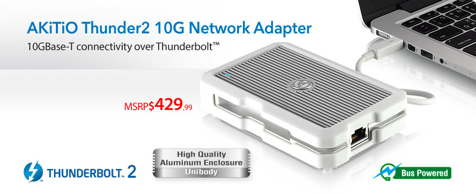 AKiTiO Thunder2 10G Network Adapter