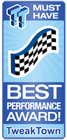 TweakTown Best Performance Award