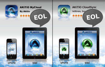 Akitio Mobile Apps Discontinued
