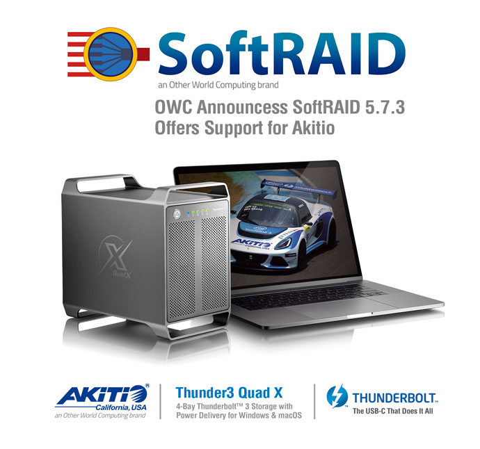 OWC SoftRAID supports Akitio