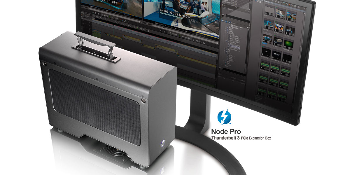 Node Pro - Thunderbolt 3 PCIe Expansion Chassis with PD | AKiTiO