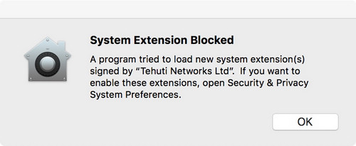 system extension blocked