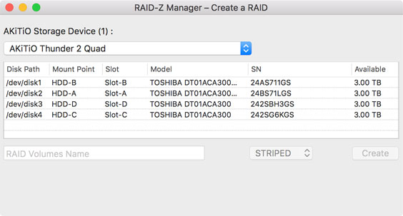 RAID-Z Manager for OpenZFS on Mac OS X | AKiTiO